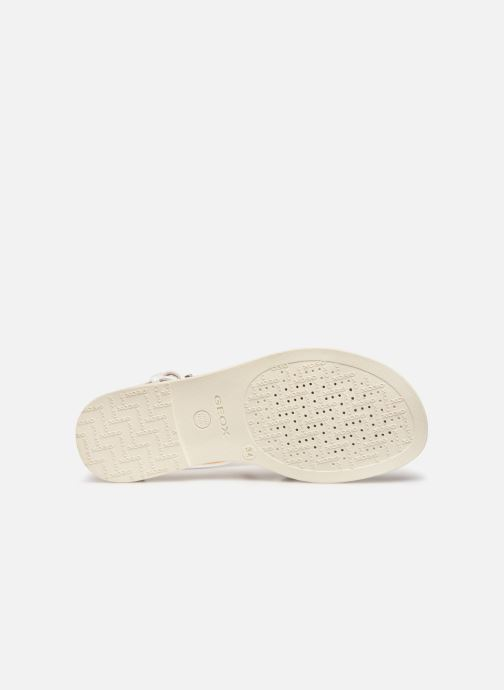 Sandals Geox J Sandal Karly Girl J7235D White view from above