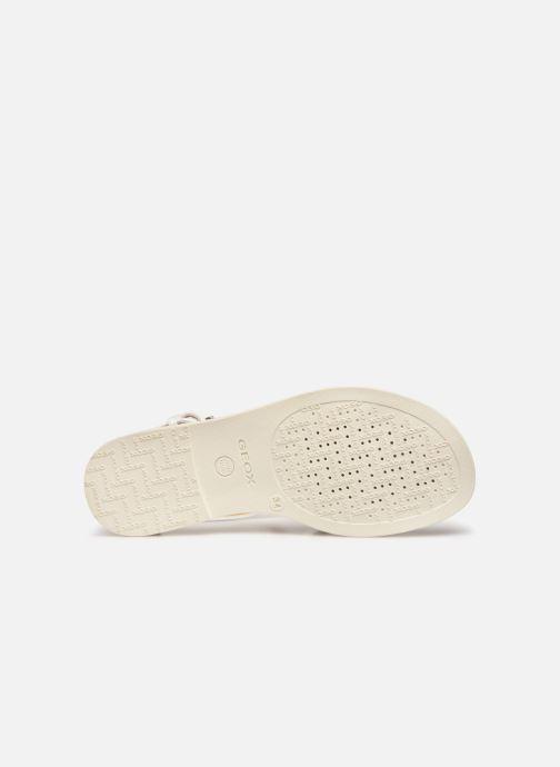 Sandales et nu-pieds Geox J Sandal Karly Girl J7235D Blanc vue haut