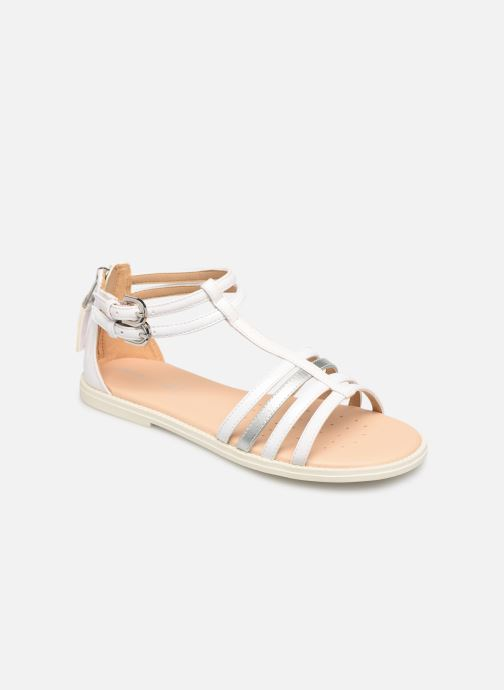 Sandals Geox J Sandal Karly Girl J7235D White detailed view/ Pair view