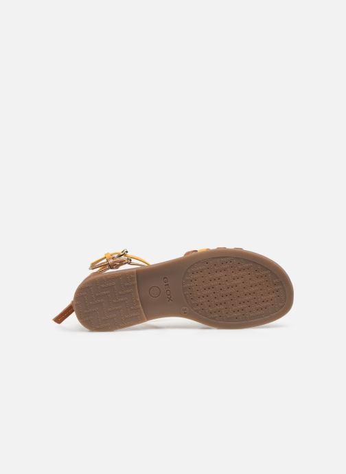 Sandales et nu-pieds Geox J Sandal Karly Girl J7235D Marron vue haut