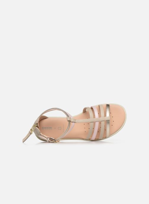 Sandales et nu-pieds Geox J Sandal Karly Girl J7235D Beige vue gauche