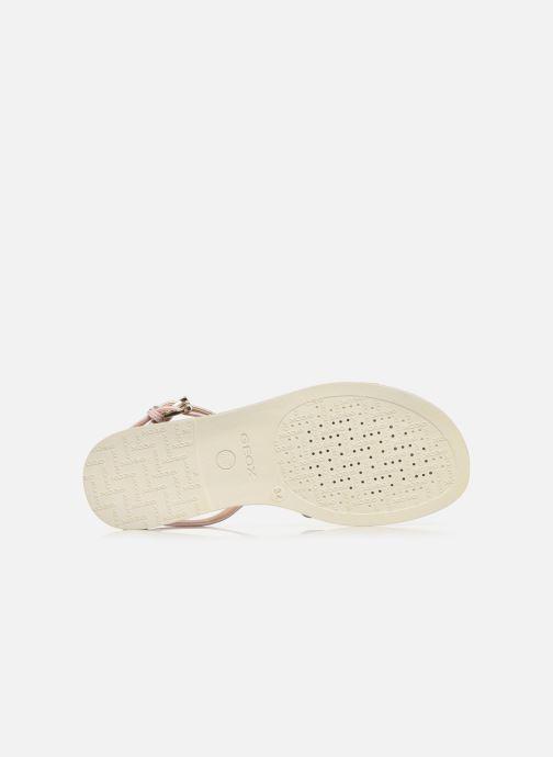 Sandales et nu-pieds Geox J Sandal Karly Girl J7235D Beige vue haut