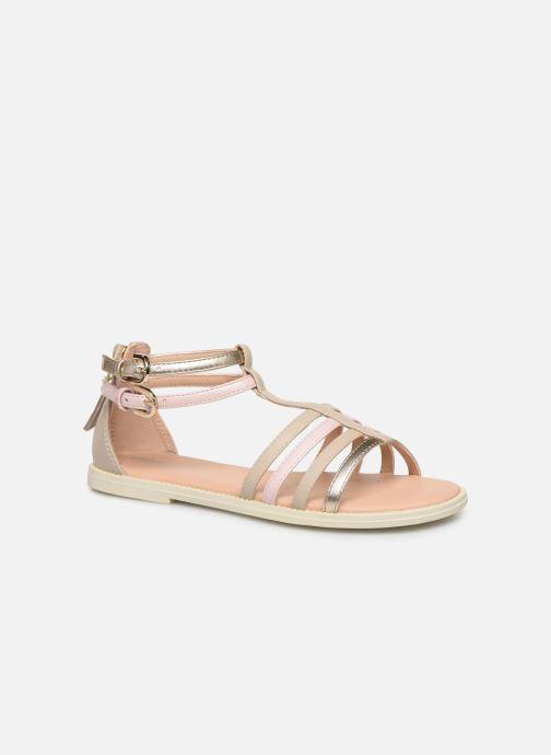 Sandales et nu-pieds Geox J Sandal Karly Girl J7235D Beige vue détail/paire