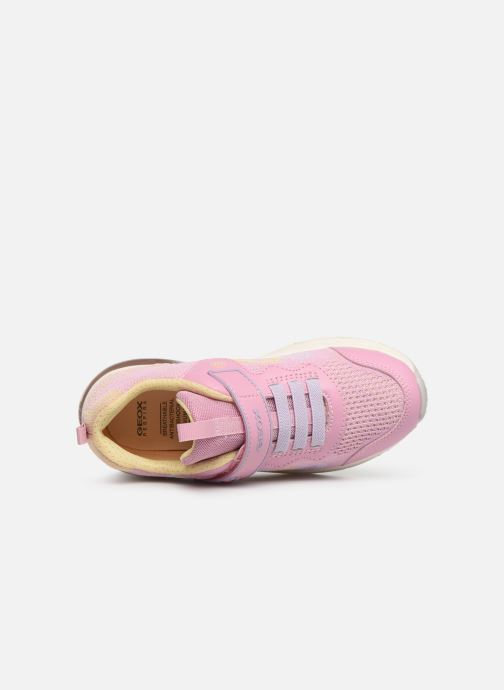 Baskets Geox J Spaceclub Girl J928VA Rose vue gauche