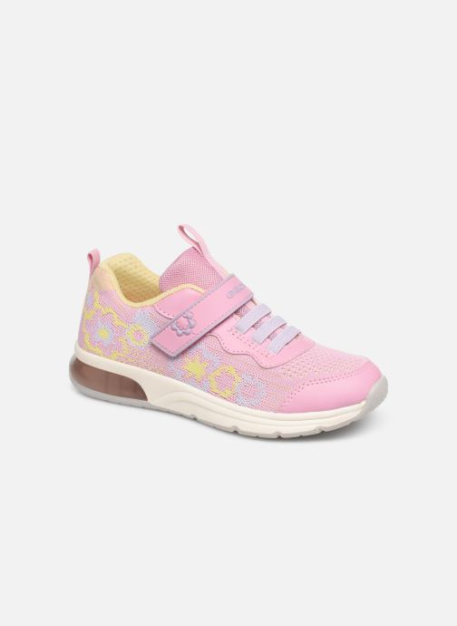Baskets Geox J Spaceclub Girl J928VA Rose vue détail/paire