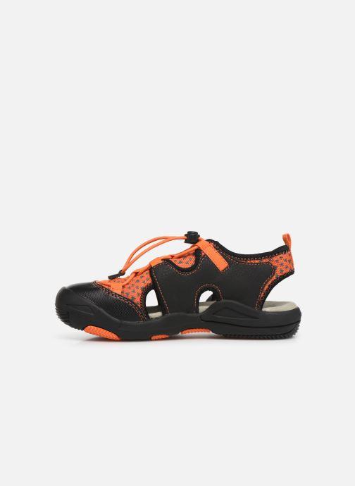 Sandales et nu-pieds Geox Jr Sandal Kyle J92E1B Noir vue face