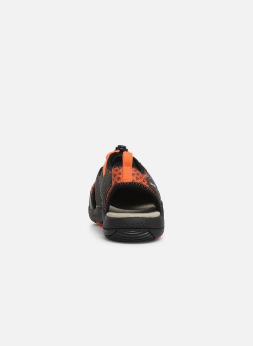 Sandali e scarpe aperte Geox Jr Sandal Kyle J92E1B Nero immagine destra