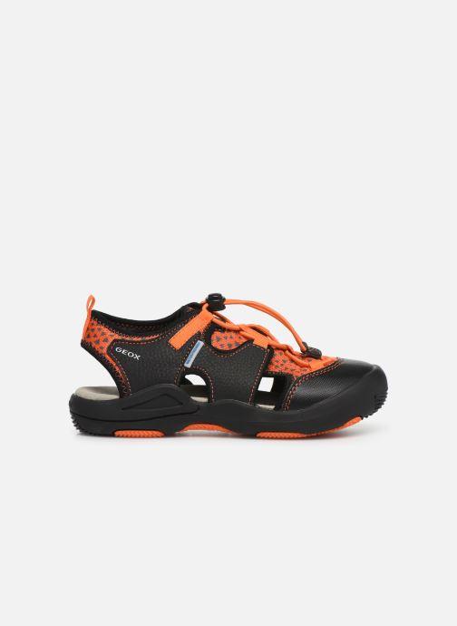 Sandales et nu-pieds Geox Jr Sandal Kyle J92E1B Noir vue derrière