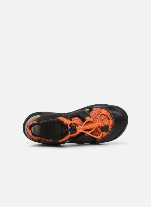 Sandales et nu-pieds Geox Jr Sandal Kyle J92E1B Noir vue gauche