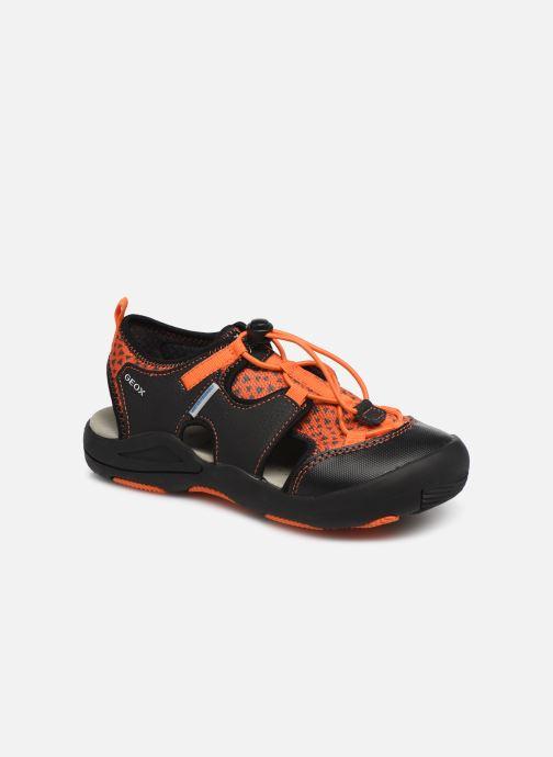 Sandales et nu-pieds Geox Jr Sandal Kyle J92E1B Noir vue détail/paire
