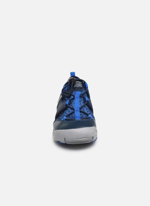 Sandales et nu-pieds Geox Jr Sandal Kyle J92E1B Bleu vue portées chaussures
