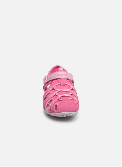 Sandales et nu-pieds Geox Jr Sandal Roxanne J92D9B Rose vue portées chaussures