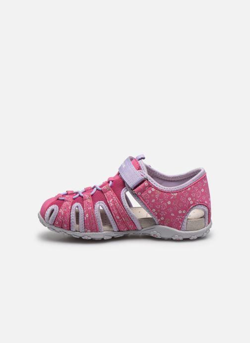 Sandali e scarpe aperte Geox Jr Sandal Roxanne J92D9B Rosa immagine frontale