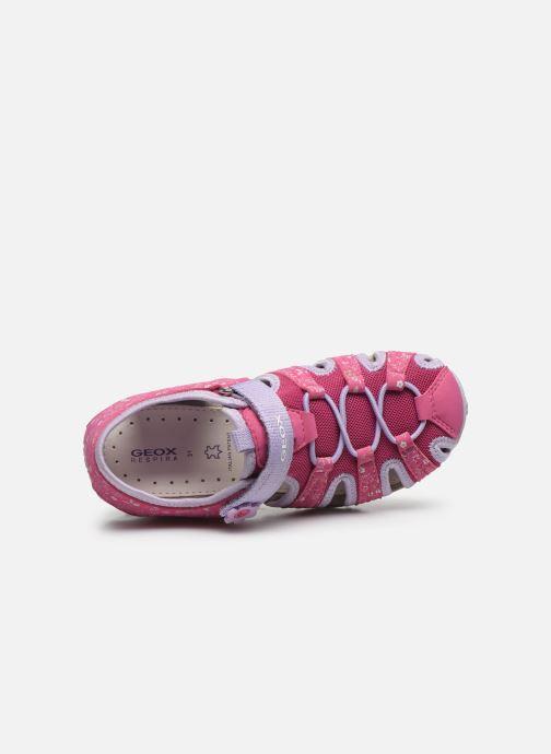 Sandali e scarpe aperte Geox Jr Sandal Roxanne J92D9B Rosa immagine sinistra