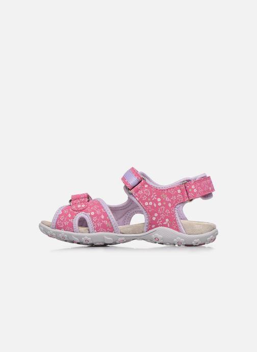 Sandali e scarpe aperte Geox Jr Sandal Roxanne J92D9C Rosa immagine frontale