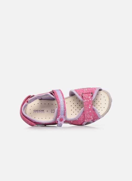 Sandali e scarpe aperte Geox Jr Sandal Roxanne J92D9C Rosa immagine sinistra