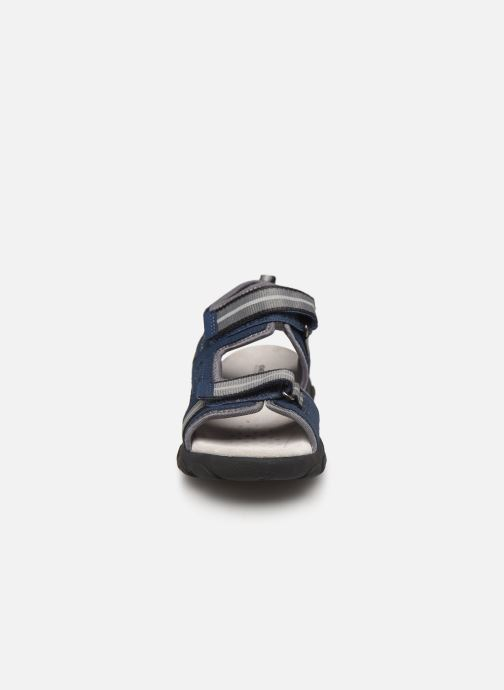Sandalen Geox Jr Sandal Strada J9224A blau schuhe getragen