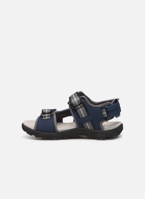 Sandalen Geox Jr Sandal Strada J9224A blau ansicht von vorne