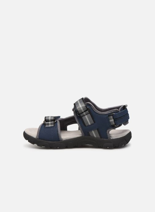 Sandales et nu-pieds Geox Jr Sandal Strada J9224A Bleu vue face