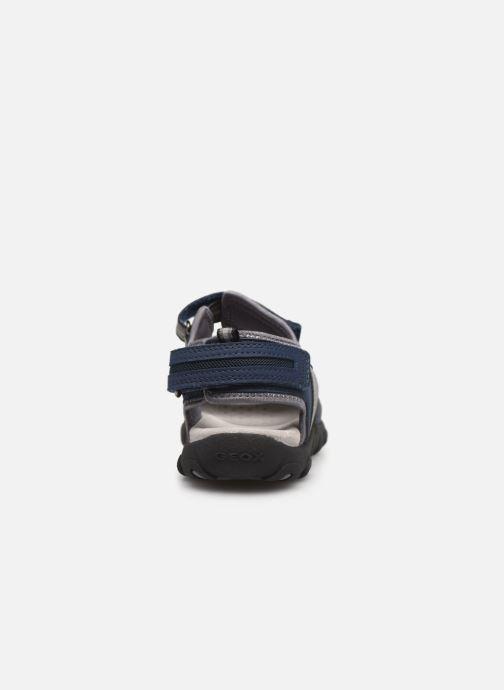 Sandales et nu-pieds Geox Jr Sandal Strada J9224A Bleu vue droite