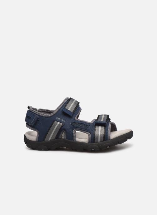Sandales et nu-pieds Geox Jr Sandal Strada J9224A Bleu vue derrière