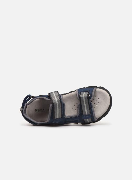 Sandalen Geox Jr Sandal Strada J9224A blau ansicht von links