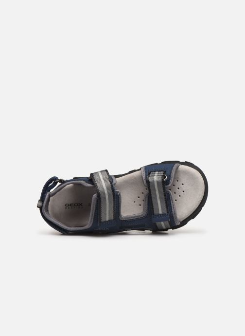 Sandales et nu-pieds Geox Jr Sandal Strada J9224A Bleu vue gauche