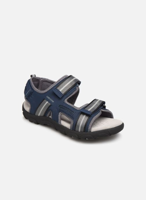 Sandaler Geox Jr Sandal Strada J9224A Blå detaljeret billede af skoene