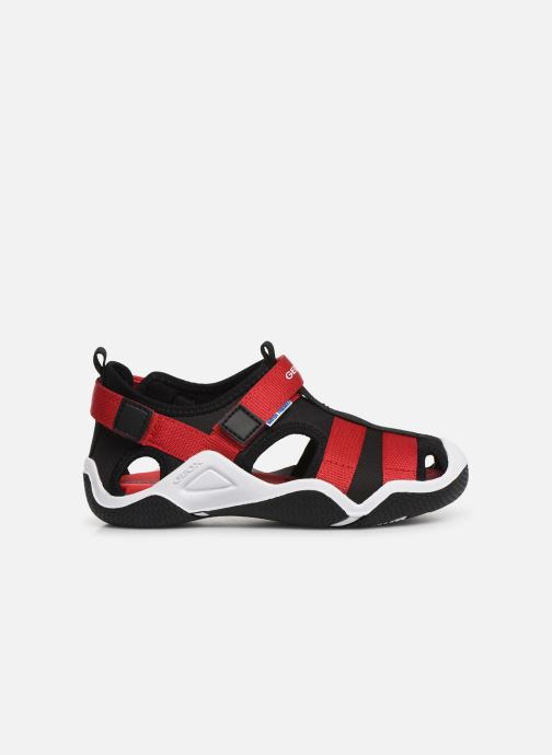 Sandales et nu-pieds Geox Jr Wader J9230A Noir vue derrière