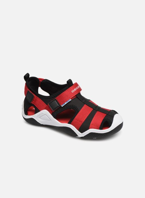 Sandales et nu-pieds Geox Jr Wader J9230A Noir vue détail/paire