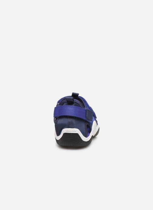 Sandalen Geox Jr Wader J9230A blau ansicht von rechts