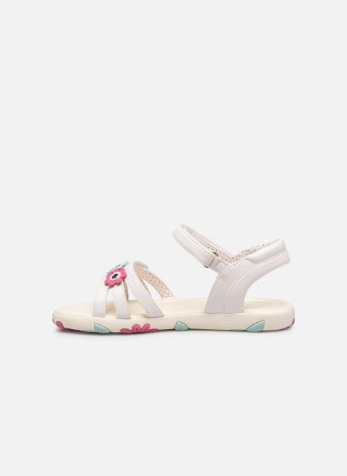 Sandales et nu-pieds Geox J Sandal Haiti Girl J928ZD Blanc vue face