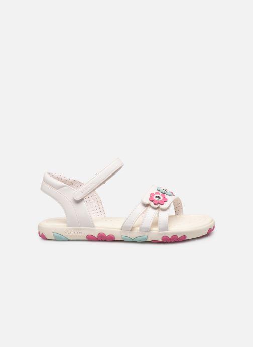 Sandales et nu-pieds Geox J Sandal Haiti Girl J928ZD Blanc vue derrière