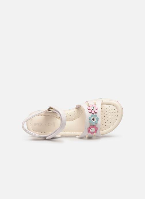 Sandales et nu-pieds Geox J Sandal Haiti Girl J928ZD Blanc vue gauche