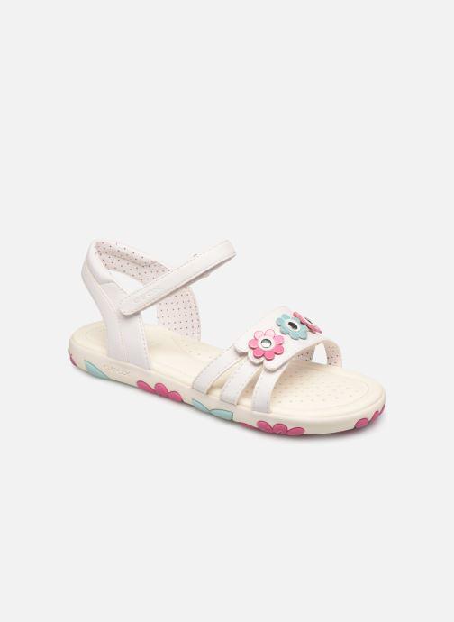 Sandales et nu-pieds Geox J Sandal Haiti Girl J928ZD Blanc vue détail/paire
