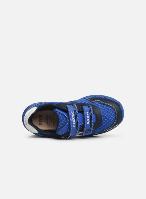 Trainers Geox J Dakin Boy J929FB Blue view from the left