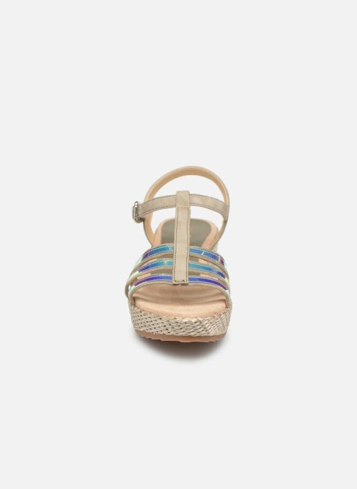 Sandali e scarpe aperte Unisa Trova Oro e bronzo modello indossato