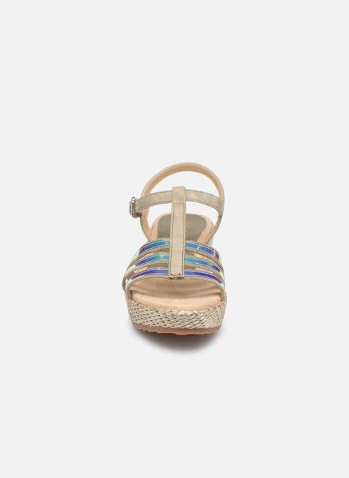 Sandalen Unisa Trova gold/bronze schuhe getragen
