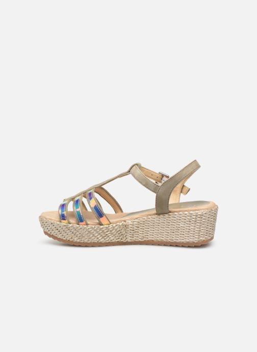 Sandales et nu-pieds Unisa Trova Or et bronze vue face