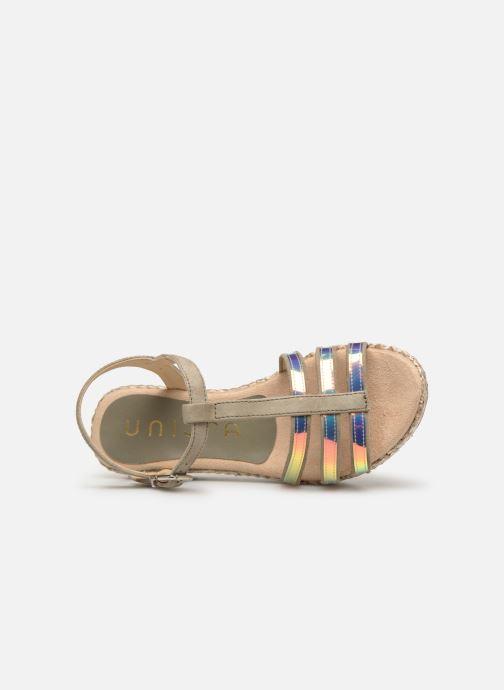 Sandales et nu-pieds Unisa Trova Or et bronze vue gauche