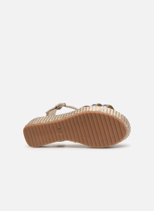 Sandales et nu-pieds Unisa Trova Or et bronze vue haut