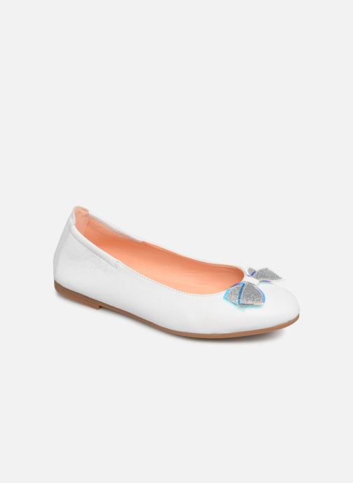 Ballet pumps Unisa Doral White detailed view/ Pair view