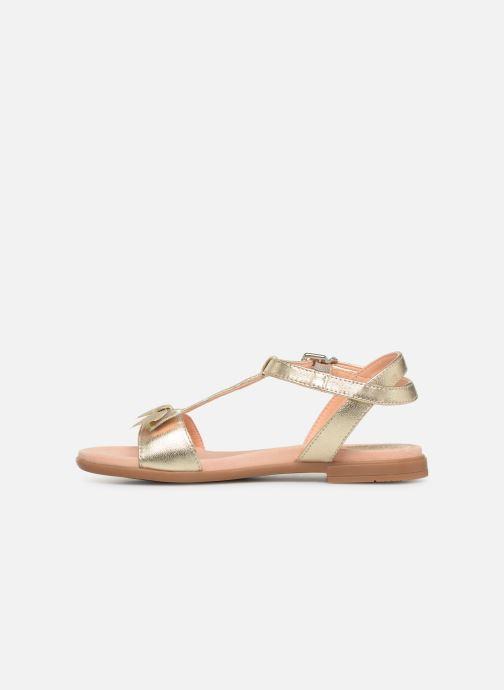 Sandales et nu-pieds Unisa Laso Or et bronze vue face