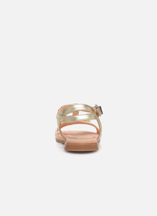 Sandalias Unisa Laso Oro y bronce vista lateral derecha