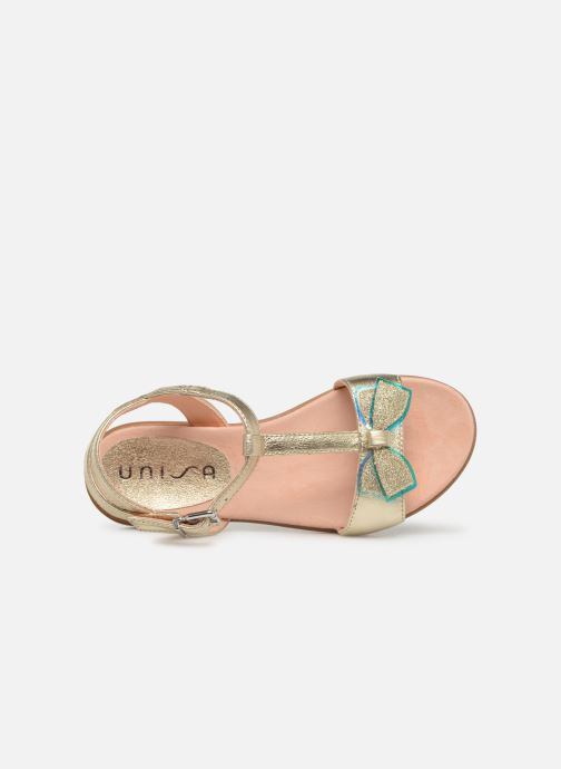 Sandales et nu-pieds Unisa Laso Or et bronze vue gauche