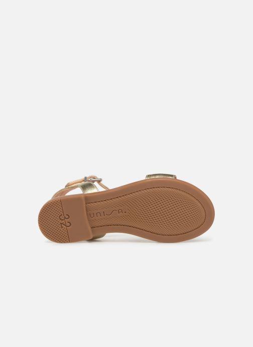 Sandales et nu-pieds Unisa Laso Or et bronze vue haut