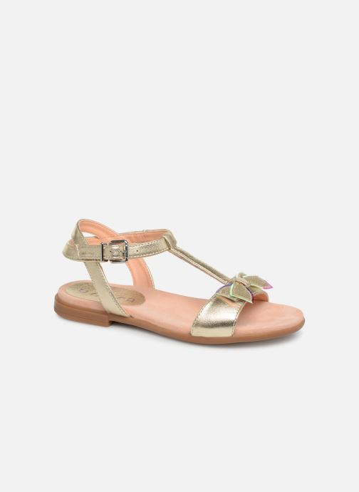 Sandals Unisa Laso Bronze and Gold detailed view/ Pair view