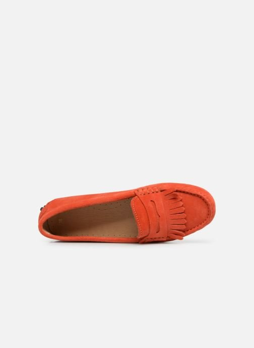 Mocasines Georgia Rose Shirine Naranja vista lateral izquierda