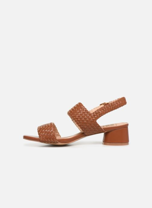 Sandals I Love Shoes LOUKA Brown front view