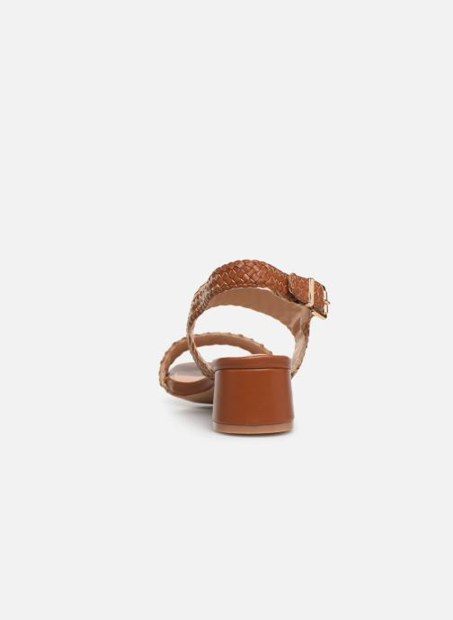 Sandals I Love Shoes LOUKA Brown view from the right
